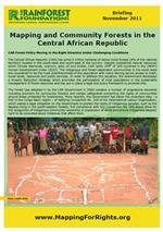 Mapping and Community Forests in the Central African Republic