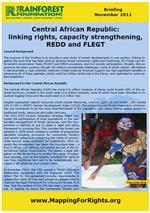 Central African Republic: Linking rights, capacity strengthening, REDD and FLEGT